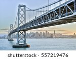sunset over san francisco... | Shutterstock . vector #557219476
