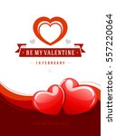 happy valentines day greeting...   Shutterstock .eps vector #557220064