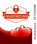 happy valentines day greeting...   Shutterstock .eps vector #557220088