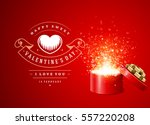 happy valentines day greeting...   Shutterstock .eps vector #557220208