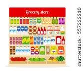 grocery store vector... | Shutterstock .eps vector #557223310
