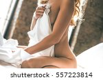 sensual moment. close up of... | Shutterstock . vector #557223814
