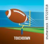 vector of american football... | Shutterstock .eps vector #557225518