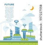 future city landscape concept.... | Shutterstock .eps vector #557227558