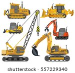 icons set of heavy construction ...   Shutterstock .eps vector #557229340