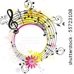 swirling colored  melody frame  ... | Shutterstock .eps vector #55723108