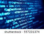 software developer programming... | Shutterstock . vector #557231374