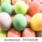 The Group Of Colorful Easter...