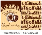 set of template flayer or menu... | Shutterstock .eps vector #557232763