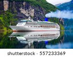 cruise ship  cruise liners on... | Shutterstock . vector #557233369