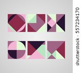 set of backgrounds with trendy... | Shutterstock .eps vector #557234170