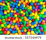 Many Colorful Plastic Balls