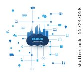 cloud computing design concept... | Shutterstock .eps vector #557247058