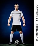 soccer player man isolated | Shutterstock . vector #557251390