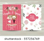 wedding template collection for ... | Shutterstock .eps vector #557256769
