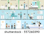 doctors working in the hospital ... | Shutterstock .eps vector #557260390