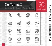 car tuning elements vector...   Shutterstock .eps vector #557266348