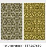 set of golden floral geometric... | Shutterstock .eps vector #557267650