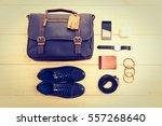 beautiful fashion set for men... | Shutterstock . vector #557268640