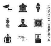 museum set icons in black style.... | Shutterstock .eps vector #557270794