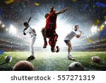 multi sports players in action... | Shutterstock . vector #557271319