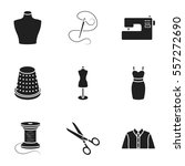 atelie set icons in black style.... | Shutterstock .eps vector #557272690