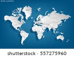 political map of the world.... | Shutterstock .eps vector #557275960