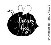dream big. vector background... | Shutterstock .eps vector #557276173