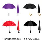 umbrellas folded and opened... | Shutterstock .eps vector #557279368