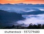 Scenic Landscape In Foggy...