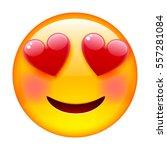 smile in love emoticon. emoji... | Shutterstock .eps vector #557281084