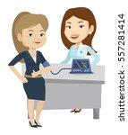 caucasain woman checking blood...   Shutterstock .eps vector #557281414