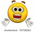 single 3d emoticon isolated on... | Shutterstock . vector #55728265