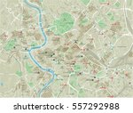 vector city map of rome with... | Shutterstock .eps vector #557292988
