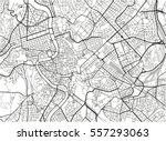black and white vector city map ... | Shutterstock .eps vector #557293063