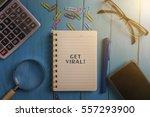top view of webinar written... | Shutterstock . vector #557293900