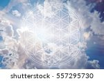 flower of life in the sky as
