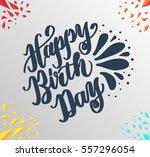 happy birthday greeting card... | Shutterstock .eps vector #557296054