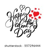 happy valentine's day lettering.... | Shutterstock .eps vector #557296444