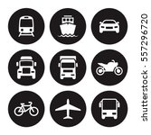 transportation icons. white on... | Shutterstock .eps vector #557296720