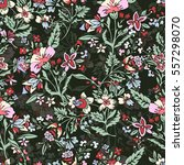 abstract hand drawn floral...   Shutterstock .eps vector #557298070
