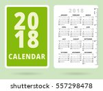 pocket calendar 2018 with inch... | Shutterstock .eps vector #557298478