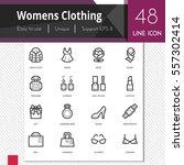 women clothing elements vector... | Shutterstock .eps vector #557302414