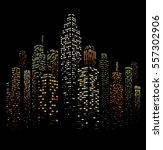vector illustration of black... | Shutterstock .eps vector #557302906