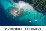blue sea top view  racha noi... | Shutterstock . vector #557303806