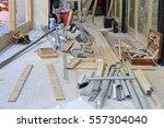 construction site renovation...   Shutterstock . vector #557304040