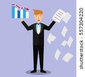 businessman character   fail... | Shutterstock .eps vector #557304220