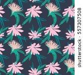 floral garden easy seamless... | Shutterstock .eps vector #557307508