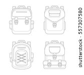 fashionable urban backpack bags....   Shutterstock . vector #557307580