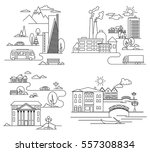 vector city illustration in... | Shutterstock .eps vector #557308834